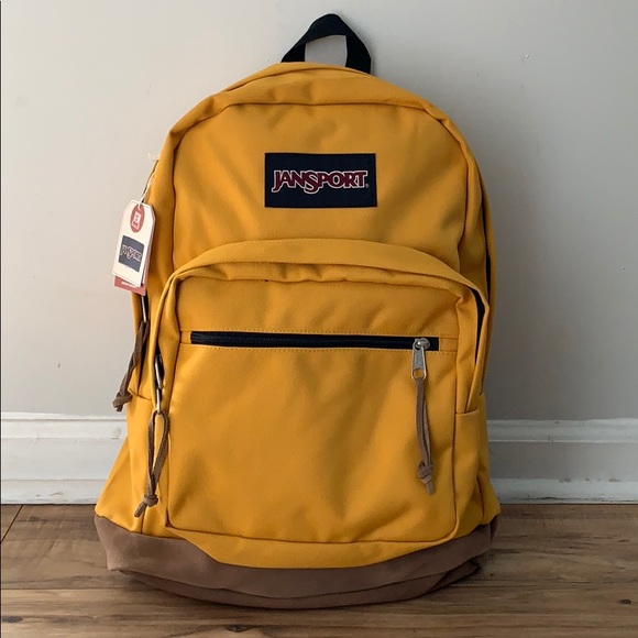 0fd89dc628 New Jansport Mustard Yellow Right Pack Backpack NWT